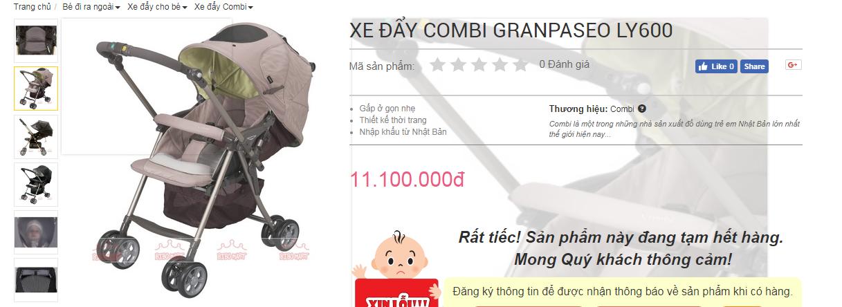 Xe đẩy Combi Granpaseo LY600 thanh lý 2