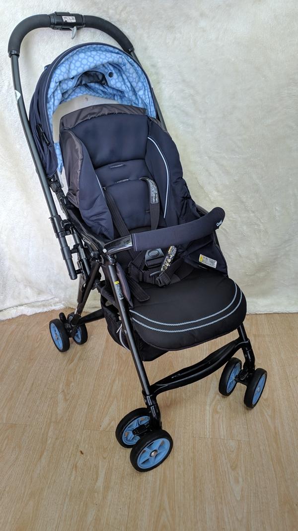 Xe đẩy em bé Combi Mechalcal First xanh đẹp label thanh lý 3