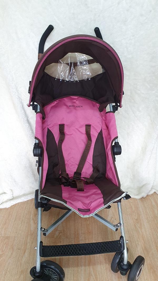 Xe đẩy trẻ em thanh lý Maclarent hồng 2