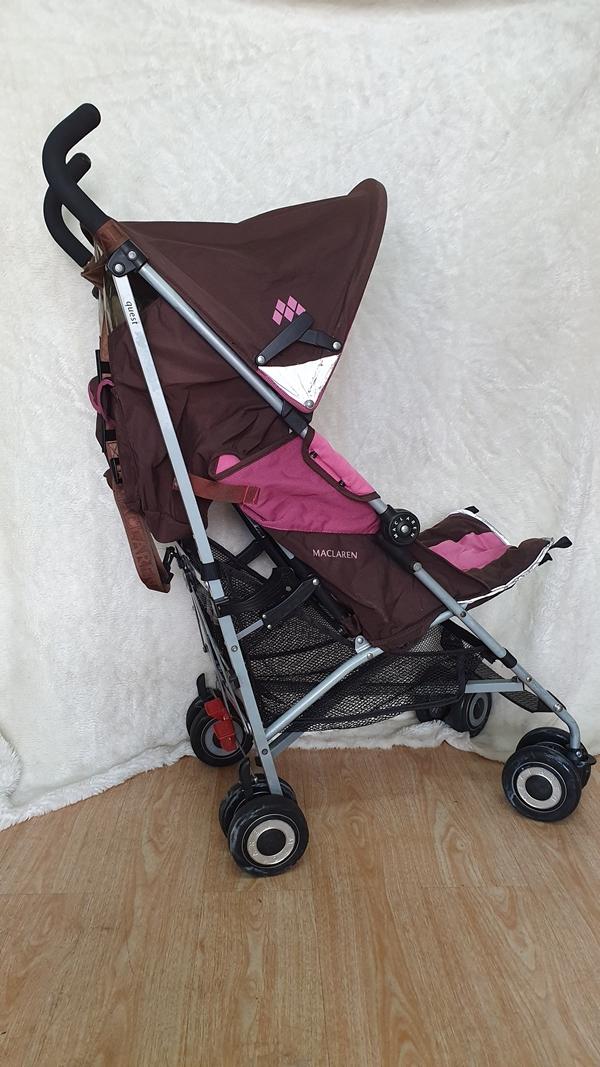 Xe đẩy trẻ em thanh lý Maclarent hồng 4