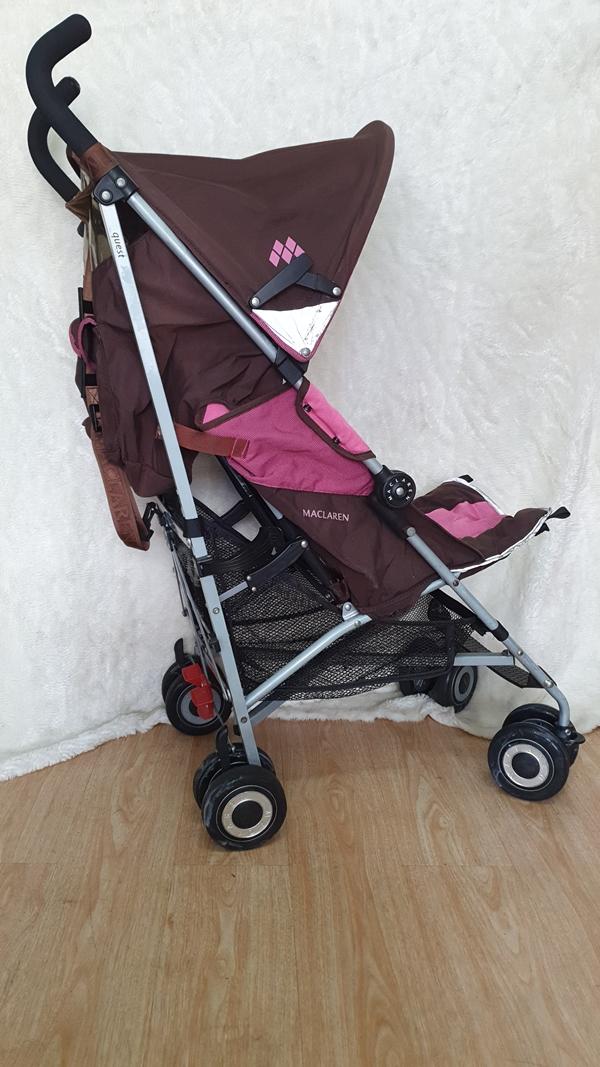 Xe đẩy trẻ em thanh lý Maclarent hồng 5