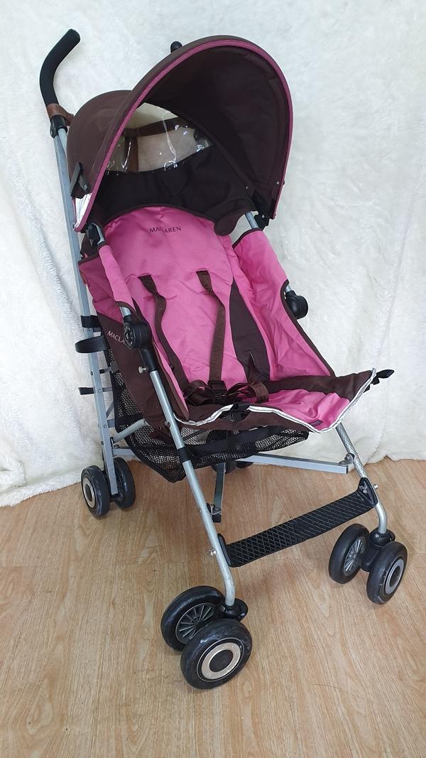 Xe đẩy trẻ em thanh lý Maclarent hồng 6