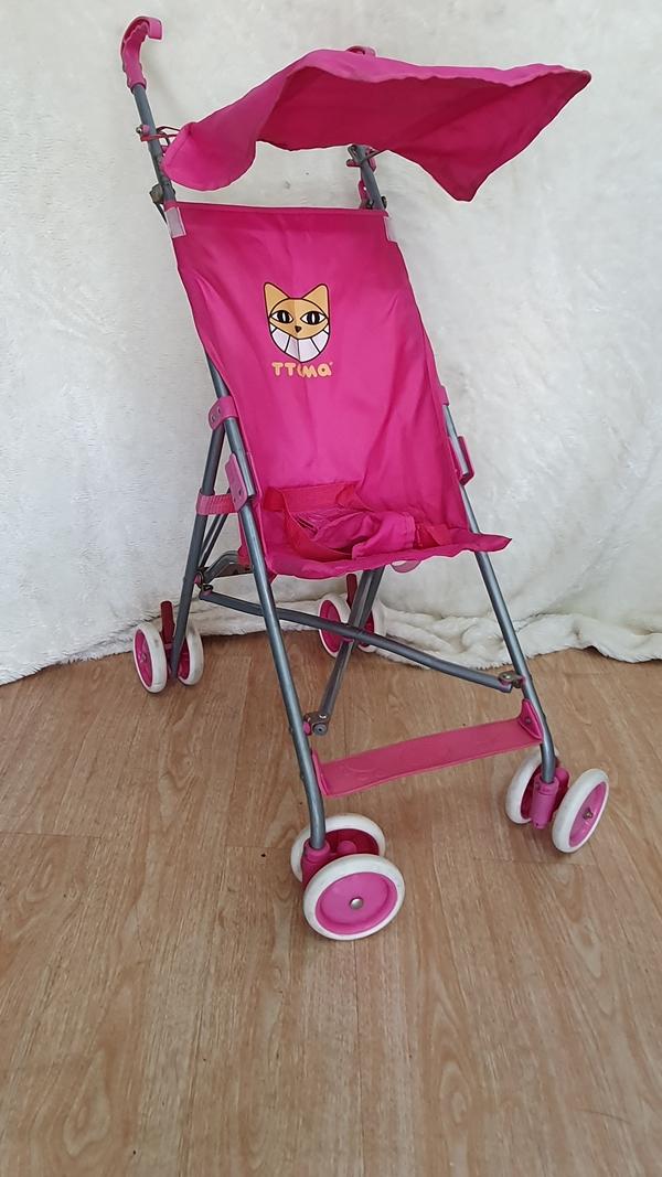 Xe đẩy du lịch màu hồng dễ thương 4