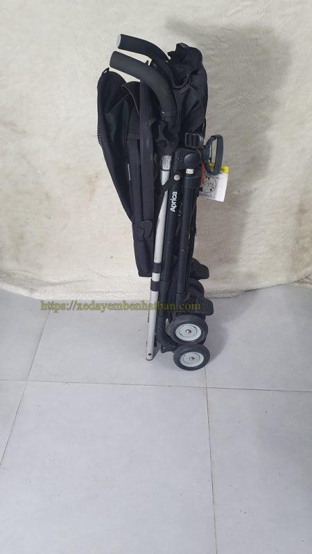 Xe đẩy em bé Aprica Stick thanh lý màu đen đẹp 3