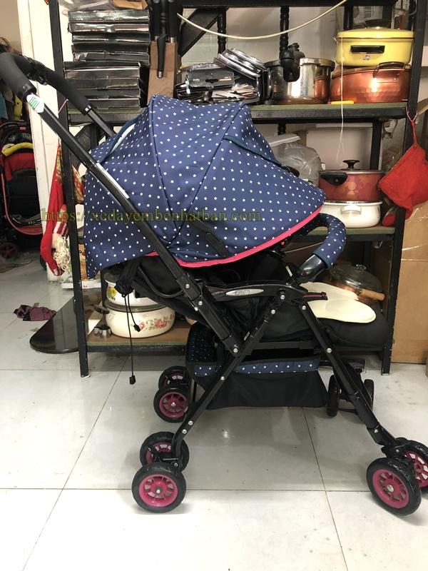 Xe thanh lý Aprica Laura màu xanh đẹp 2