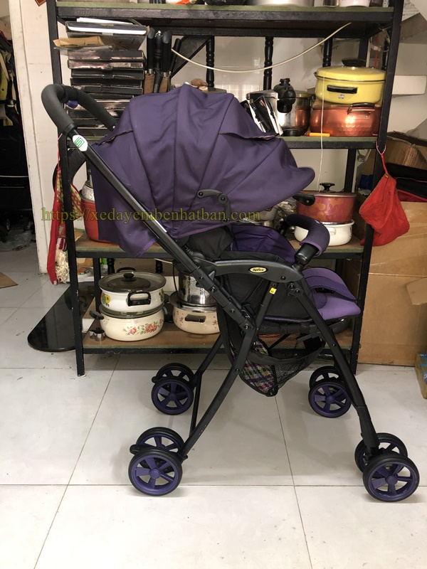 Xe đẩy em bé Aprica Air ria tím thanh lý 2