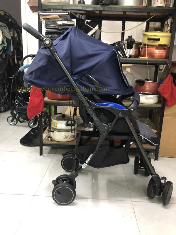 Xe đẩy em bé Combi Diaclasse xanh thanh lý 3