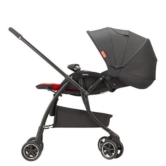 Xe đẩy em bé Aprica Luxuna Comfort - Đỏ đen 3