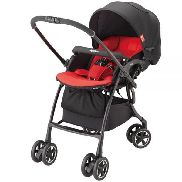 Xe đẩy em bé Aprica Luxuna Comfort - Đỏ đen 1