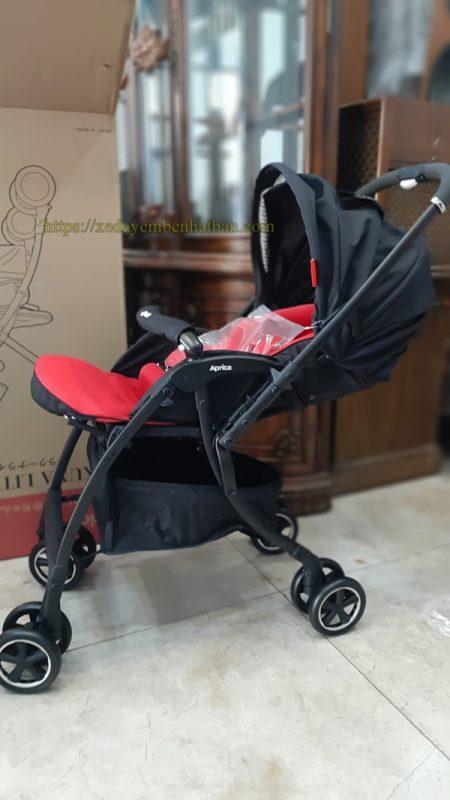 Xe đẩy em bé Aprica Luxuna Comfort - Đỏ đen 6