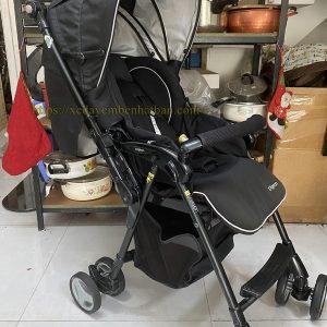 Xe đẩy em bé nội địa Nhật Pigeon sorachika đen mun