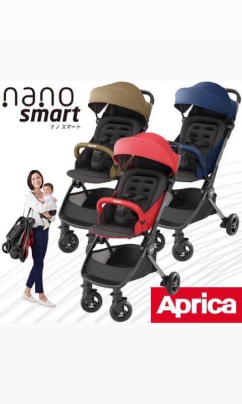Xe đẩy em bé du lịch gấp gọn Aprica Nano Smart 2