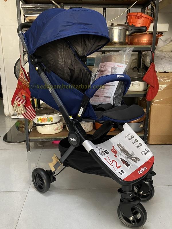 Xe đẩy em bé du lịch gấp gọn Aprica Nano Smart 10